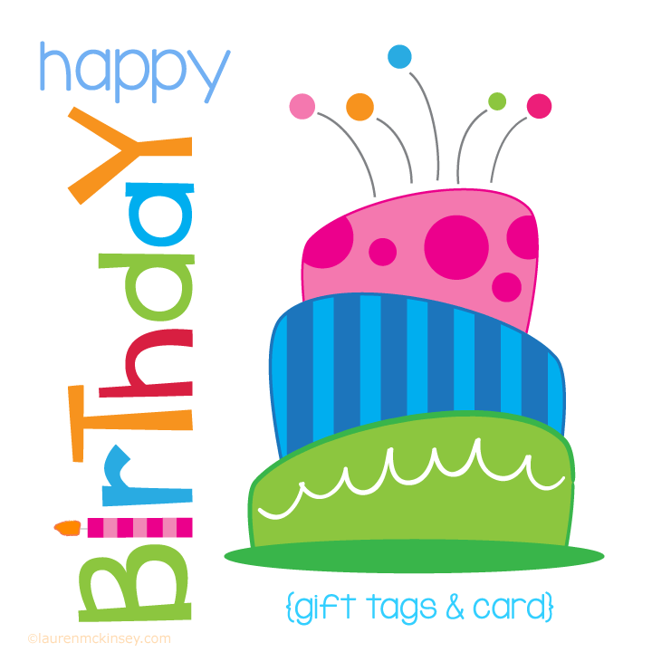 720x720 Complete Collection{Birthday Cake Gift Tags And Card} Lauren