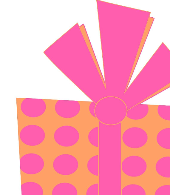 570x653 Birthday Clip Art Present Graphic Royalty Free Pink