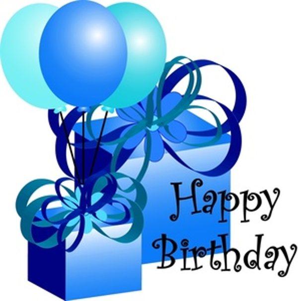 600x606 Blue Happy Birthday Son Clipart