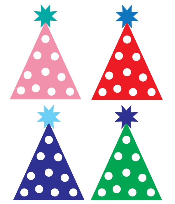 600x700 Free Birthday Hat Clipart Image