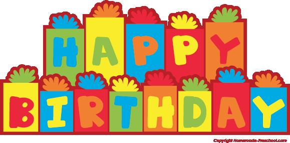 579x285 Free Happy Birthday Clipart