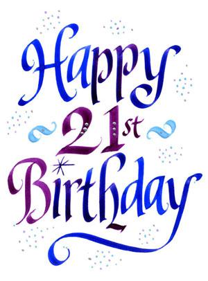 300x406 Graphics For 21 Happy Birthday Graphics