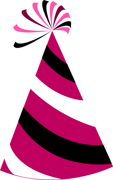 378x599 Funky Party Hat Clip Art