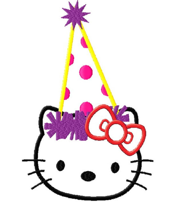 709x800 Hello Kitty Birthday Clipart