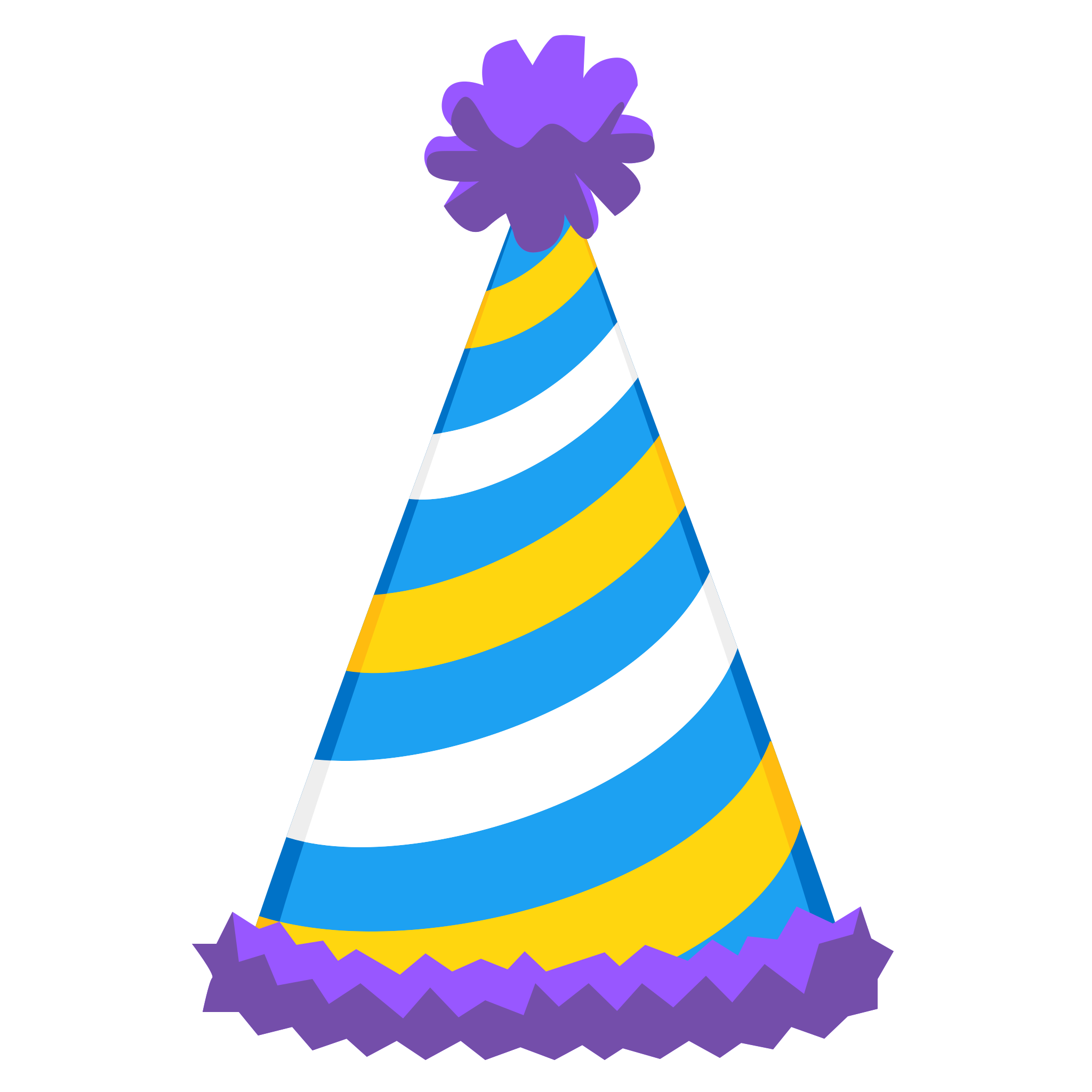2048x2048 Sticker Timeline Birthday Hat