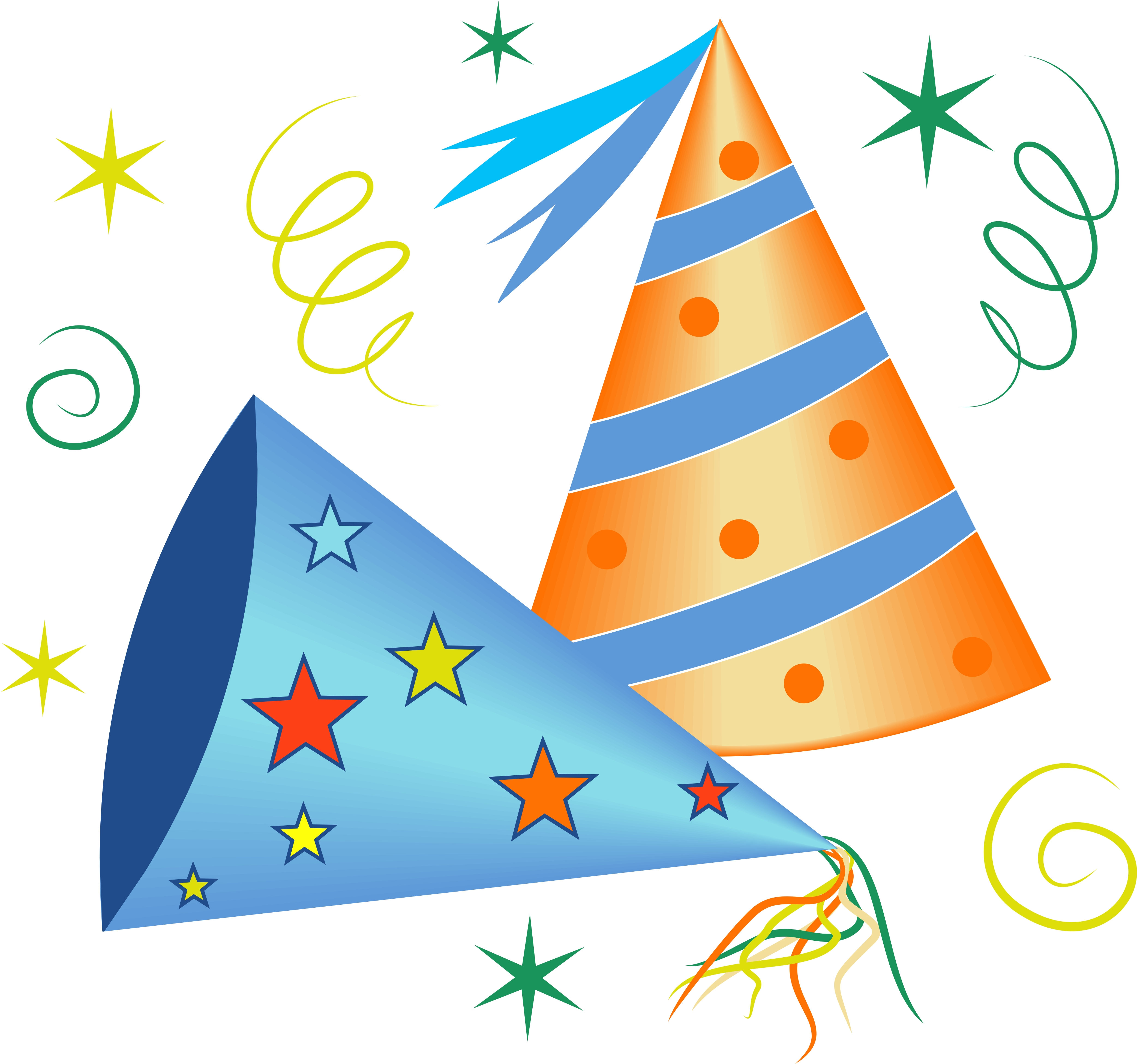 4169x3900 Party Hats Clipart
