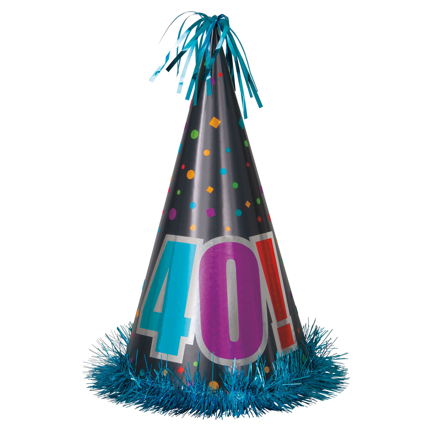 1800x1800 Birthday Cheer 40th Hat Party Supplies