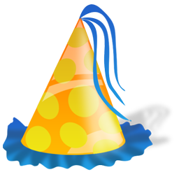 256x256 Birthday, Hat, Party Icon