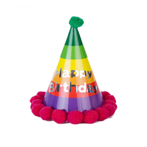 500x500 Birthday Rainbow Party Hat