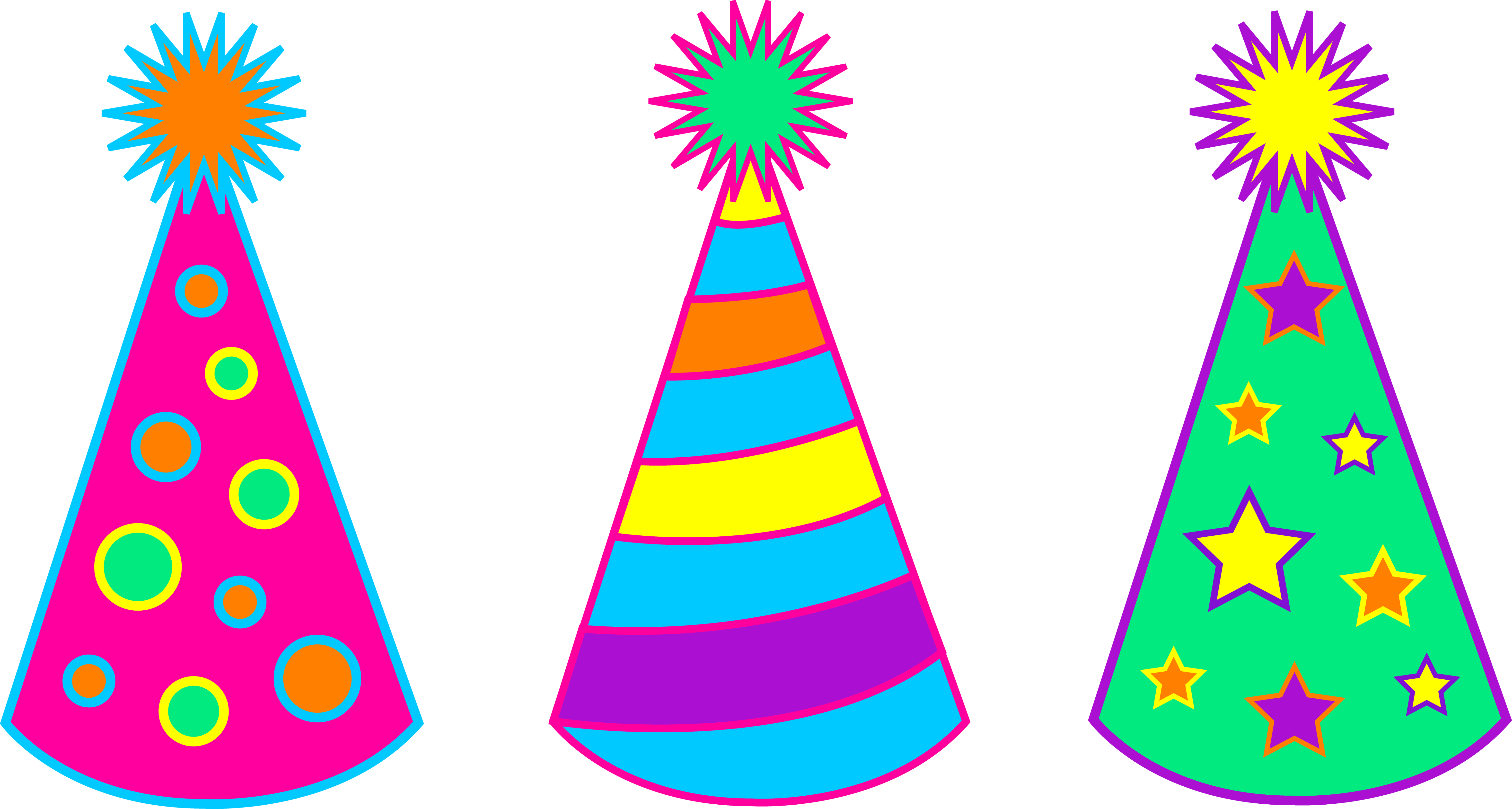 6220x3327 Birthday Hat Happy Birthday Party Hats Transparent Clipart