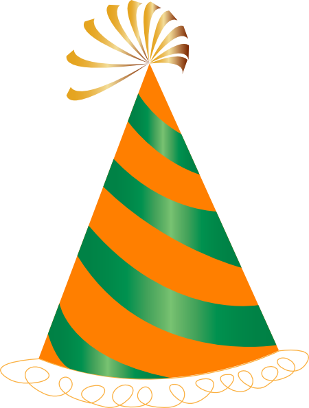 450x594 Orange And Green Party Hat Clip Art