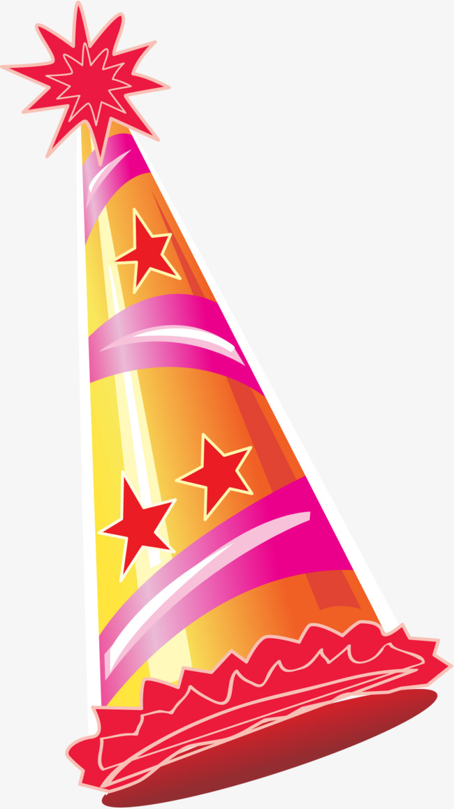 650x1158 Orange Cartoon Holiday Hat, Birthday Cap, Birthday Party, Party
