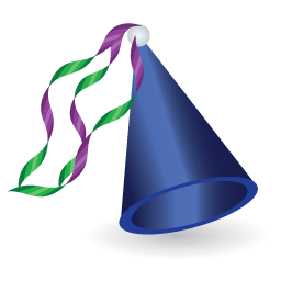 256x256 Blue Birthday Hat Png Image Royalty Free Stock Png Images