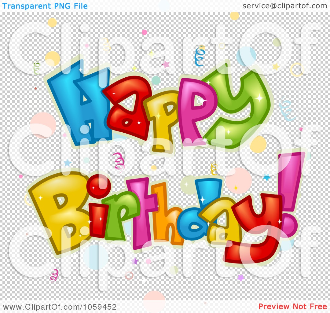 1080x1024 Happy Birthday Clipart No Background