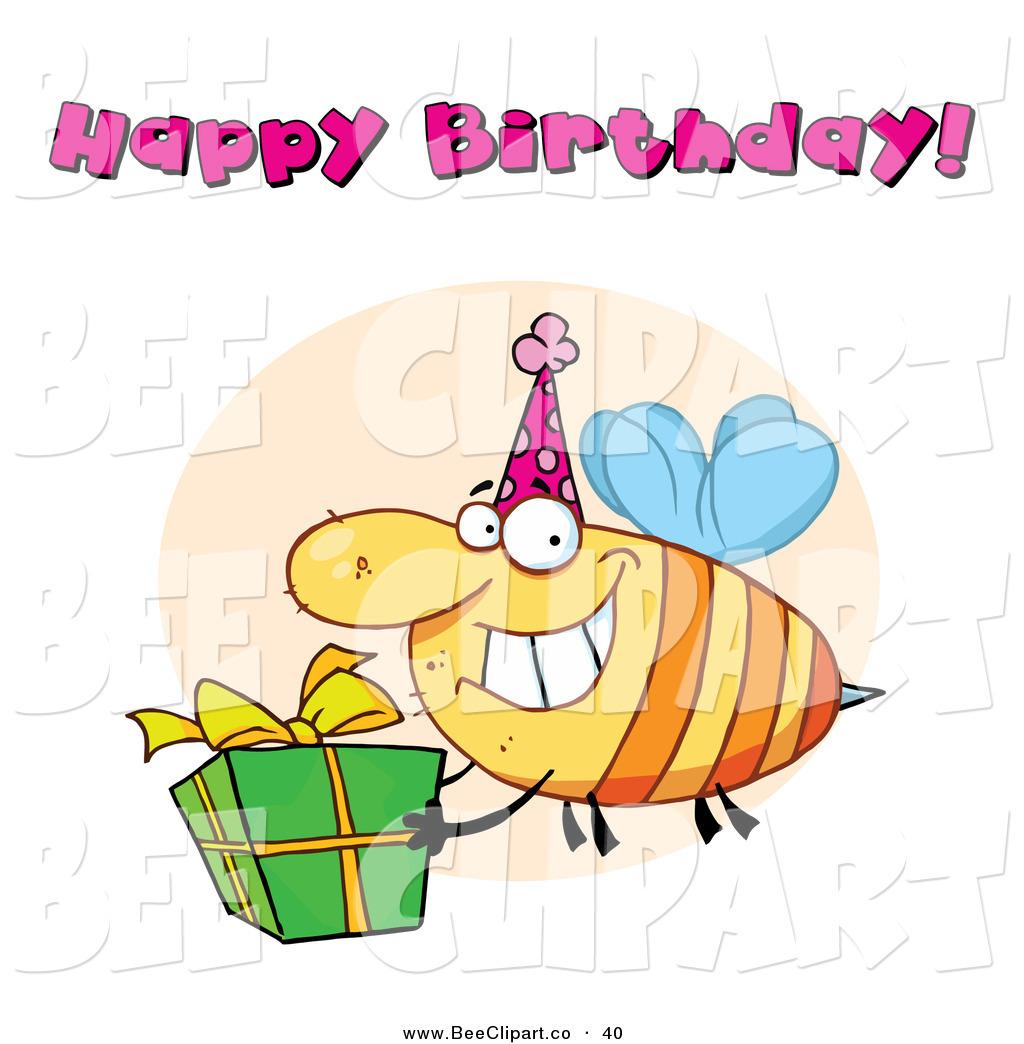 1024x1044 Cartoon Vector Clip Art Of A Happy Birthday Text Above A Yellow