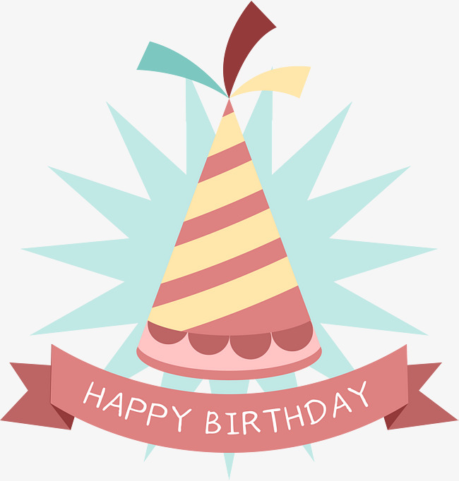 650x682 Cartoon Birthday Hat Tag, Pink, Birthday Celebration, Sticker Png