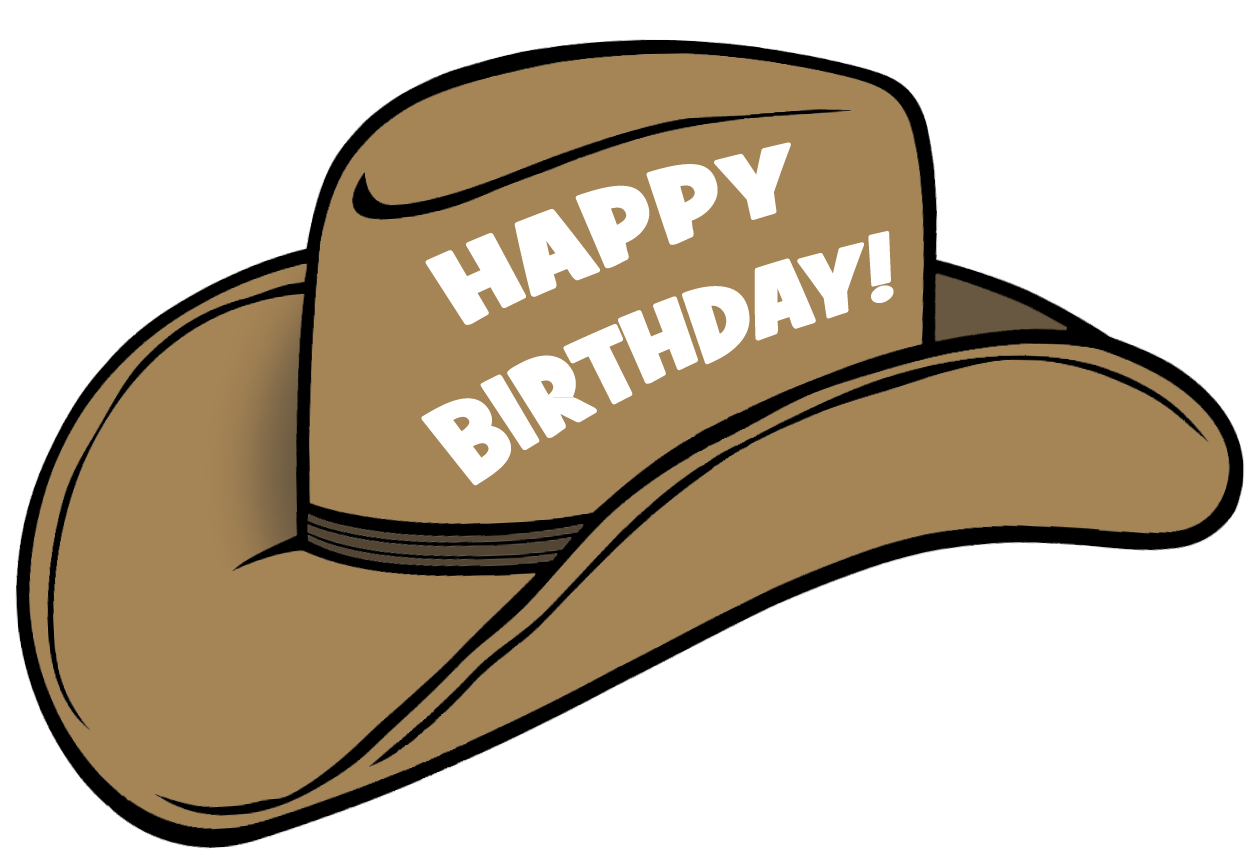1258x862 Cowboy Hat Birthday Hat 3 Clipart Image
