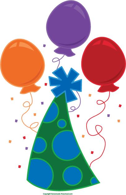 406x629 Free Birthday Balloons Clipart