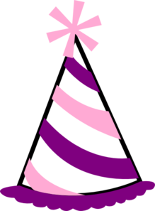 219x297 Pink And Purple Party Hat Clip Art