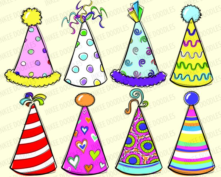 Birthday Hats Clipart