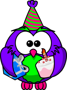 225x300 Birthday Owl Clip Art