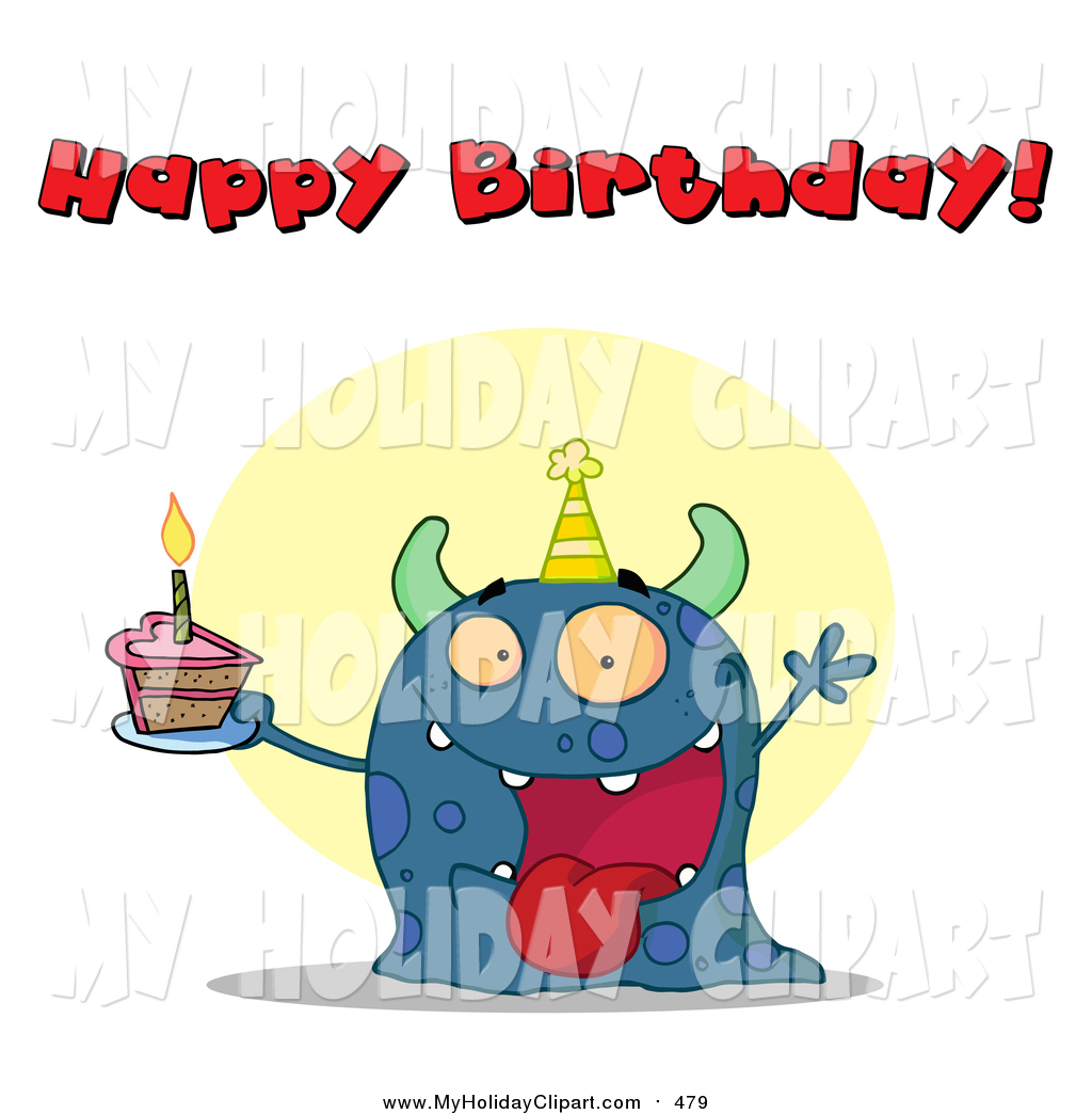 1024x1044 Clip Art Of A Happy Birthday Greeting Above A Blue Birthday