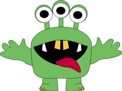 410x306 Creature Clipart Birthday Monster