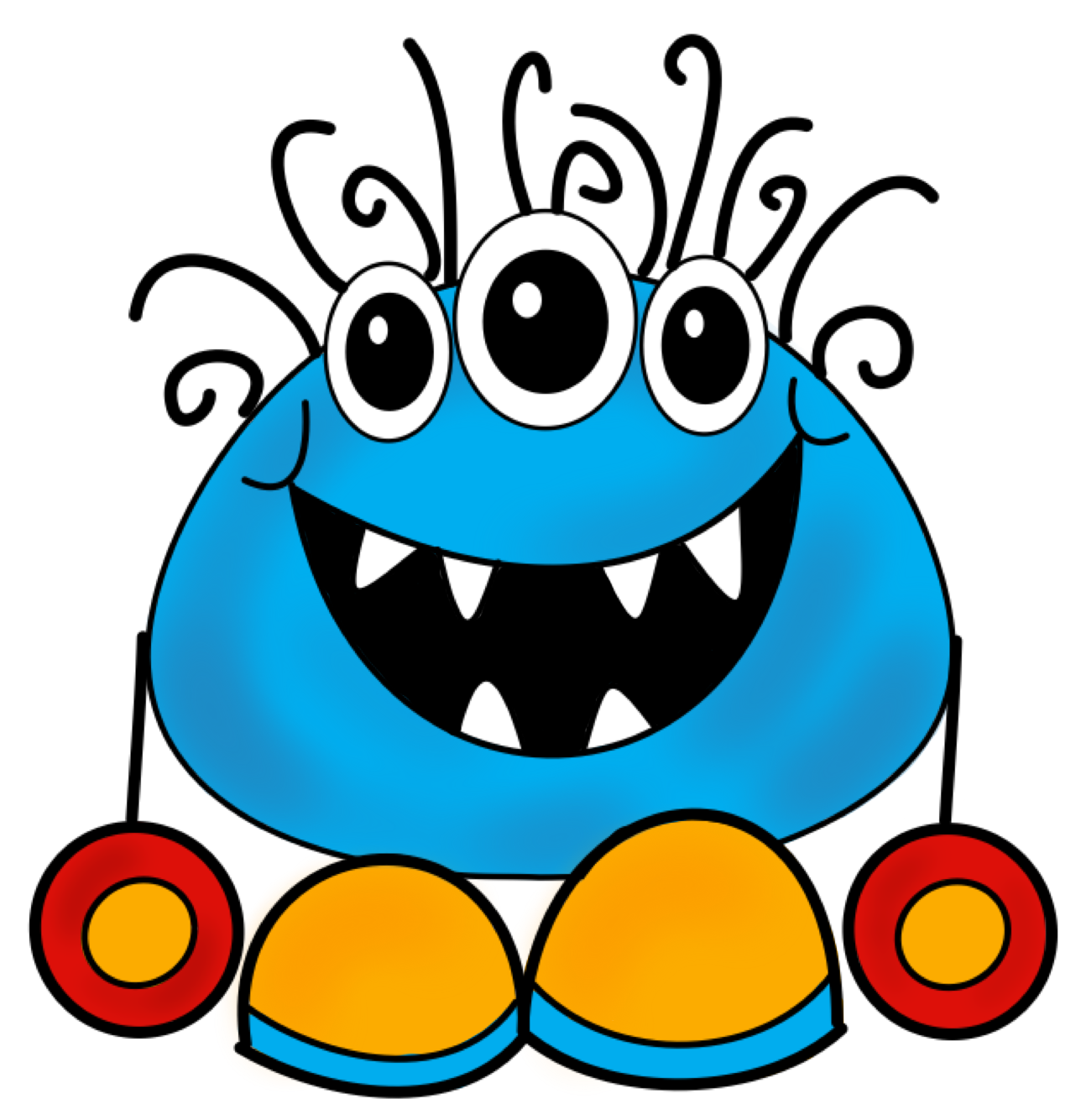 1288x1334 Free Clipart Monsters