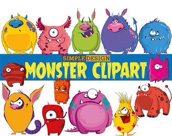 340x270 Monsters Clipart Etsy