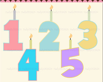 Birthday Numbers Clipart