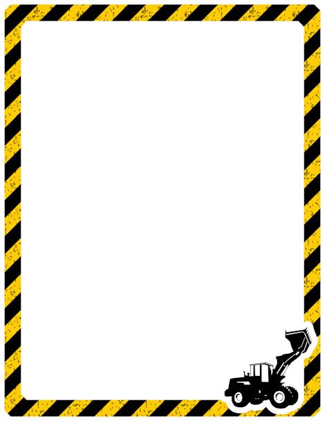 470x608 Printable Construction Border. Free Gif, Jpg, Pdf, And Png