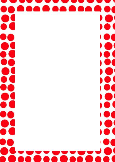 368x521 Red Polka Dot Border Clip Art