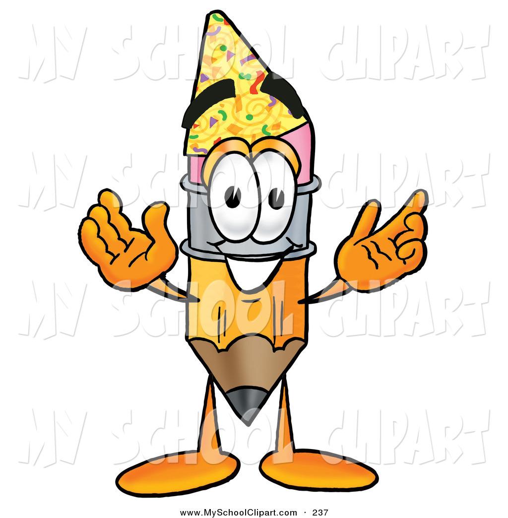 1024x1044 Cliprt Of Yellow Pencil Mascot Cartoon Character Wearing