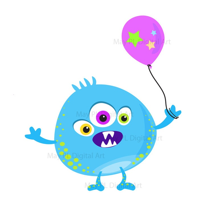 736x736 Monster Party Clipart