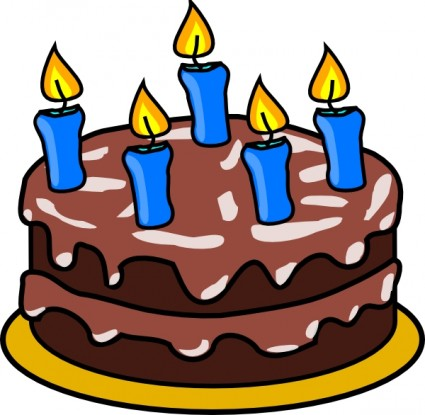 425x415 Party Clipart Birthday Cake