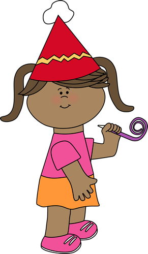 291x500 Birthday Girl With Party Whistle Clip Art