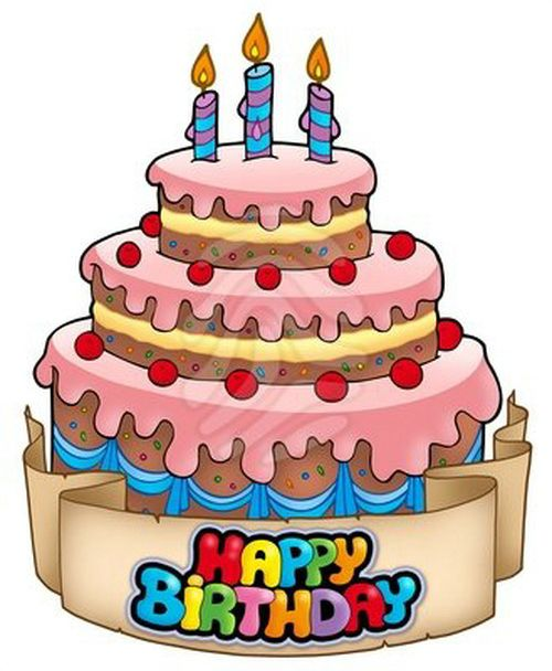 500x608 Birthday Cake Animated Clip Art