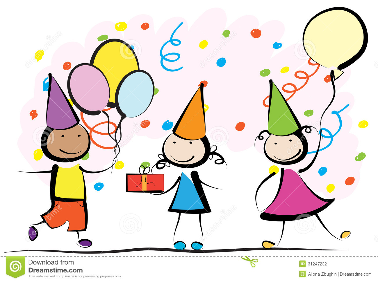 1300x972 Kids Birthday Party Clip Art