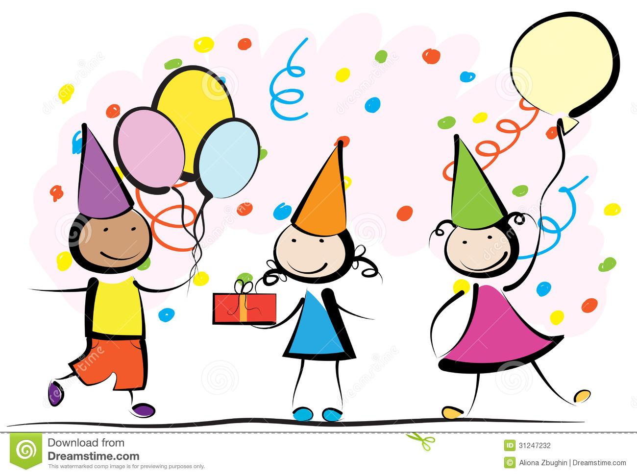 1300x972 Kids Birthday Party Clip Art