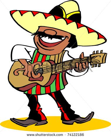 378x470 Mexican Party Clipart Free