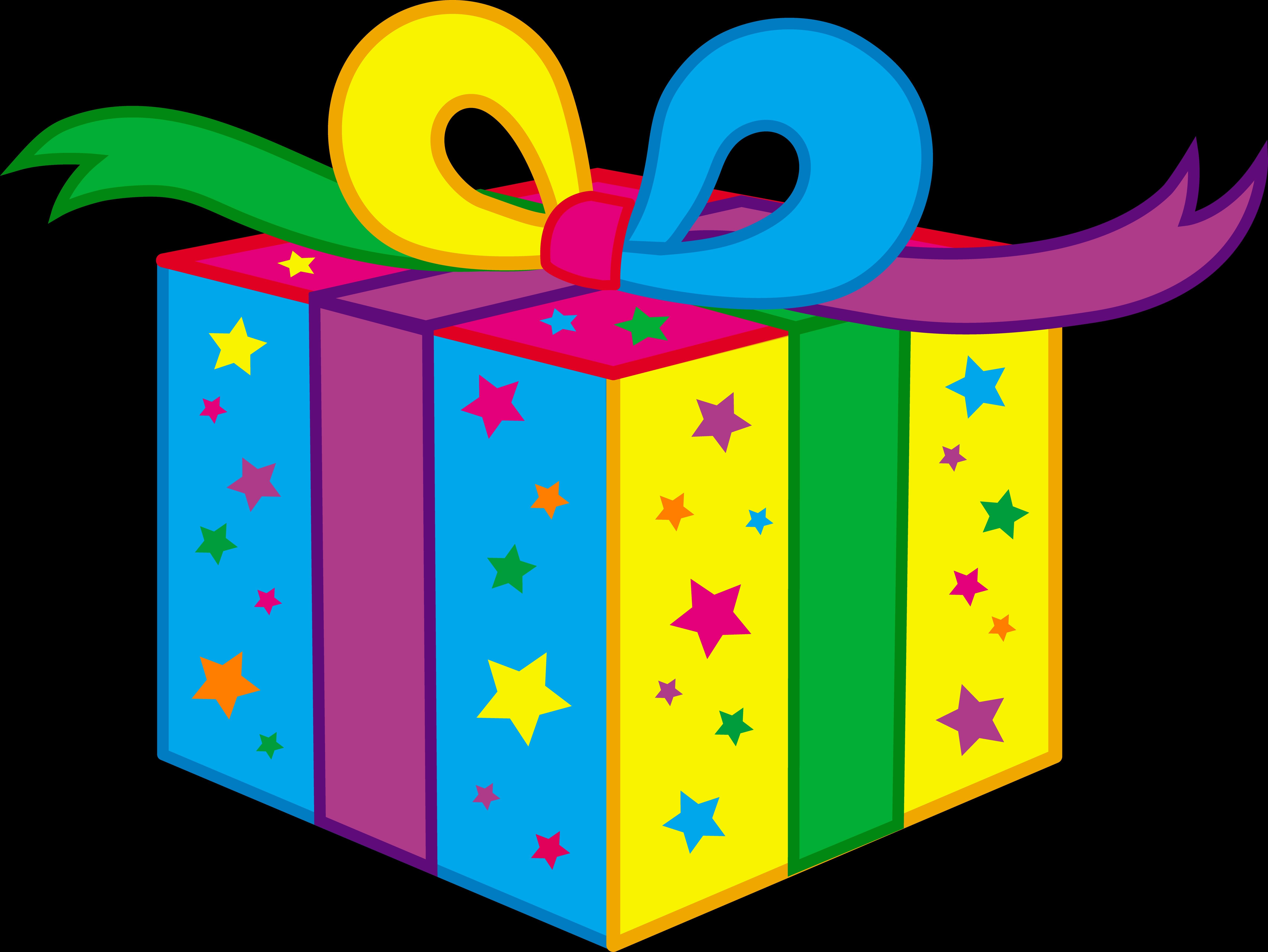 birthday present clipart free download best birthday present