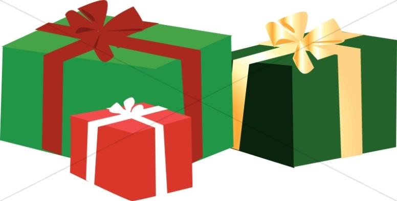 776x393 Christmas Gift Box Clip Art