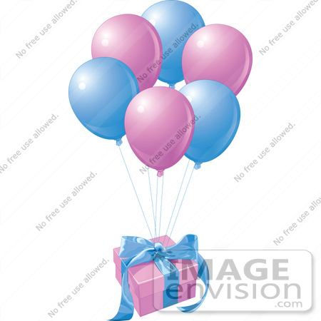 450x450 Royalty Free (Rf) Clip Art Illustration Of A Birthday Gift