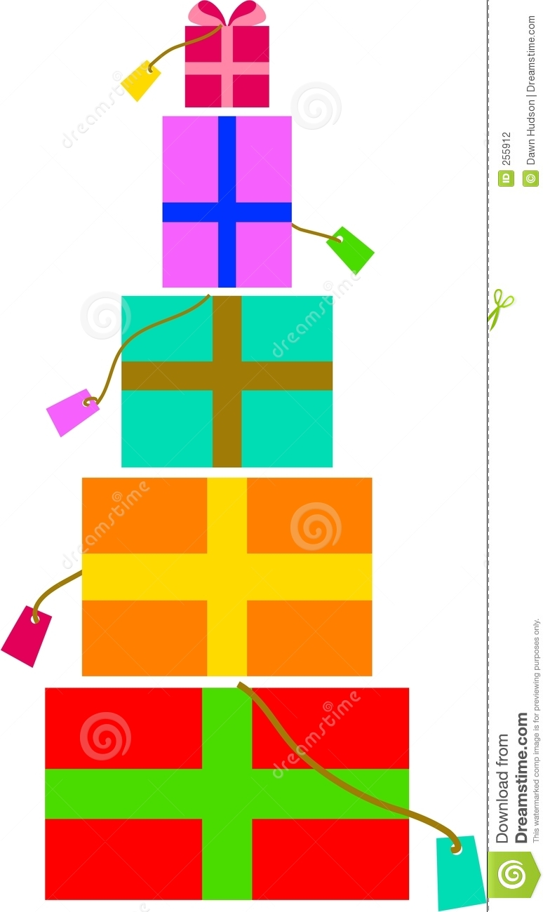 784x1300 Stacked Christmas Presents Clip Art