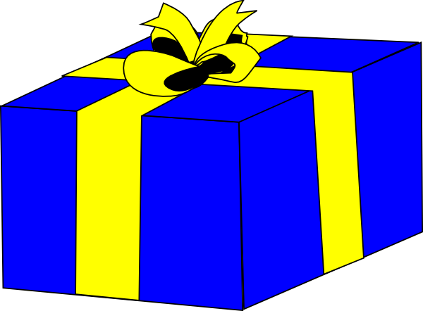 600x442 Wrapped Birthday Presents Clipart