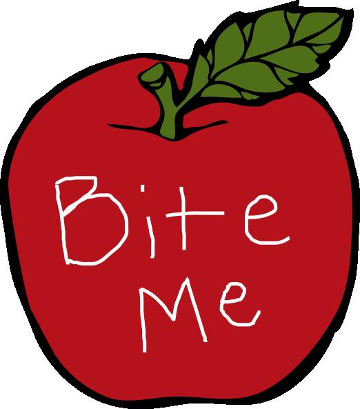 522x593 Bite Me Apple Clip Art