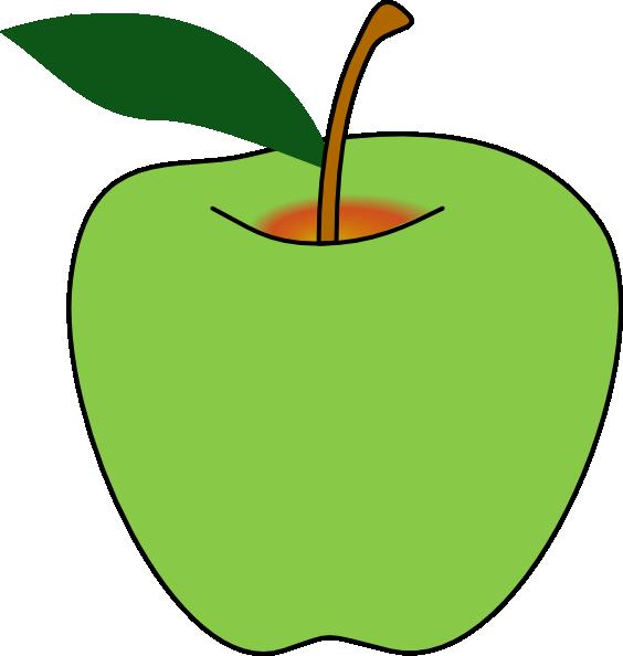 564x594 Bitten Green Apple Clipart Free Images