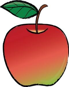240x300 Bitten Red Apple Clipart