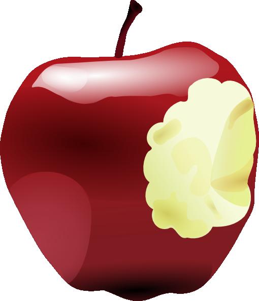 510x594 Apple Bitten Clip Art