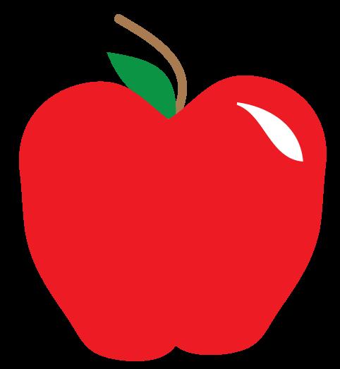 482x523 Free Apple Clipart